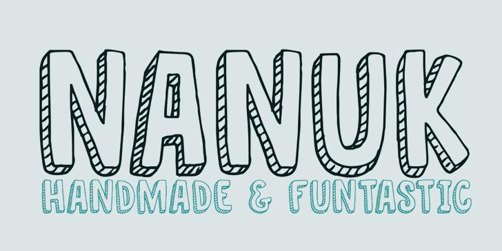 DK Nanuk font by David Kerkhoff