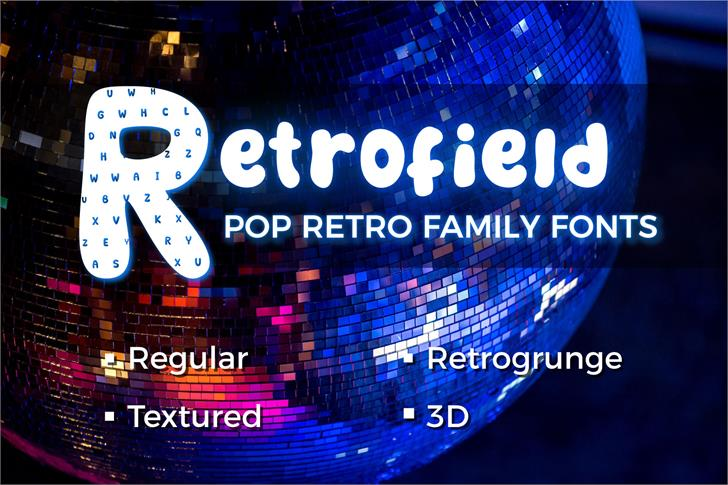 Retrofield DemoTextured Font poster