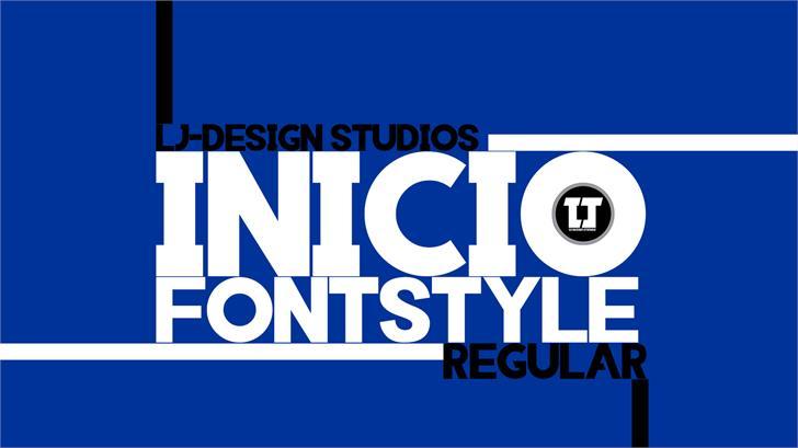 INIICO Font screenshot design
