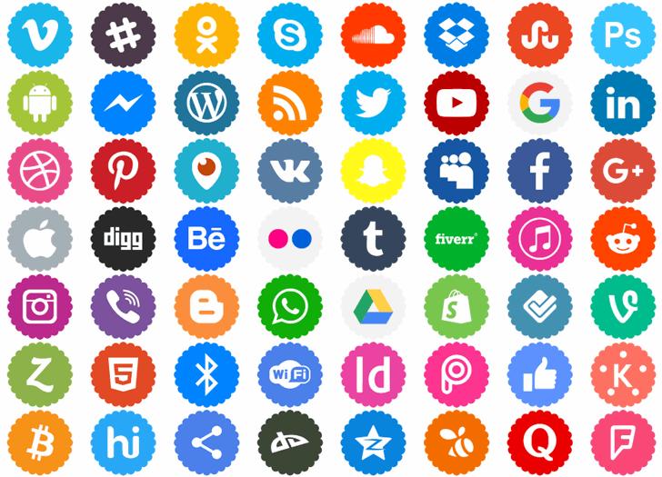 Icons-Color Font pattern illustration