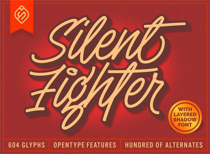 Silent Fighter Font typography poster