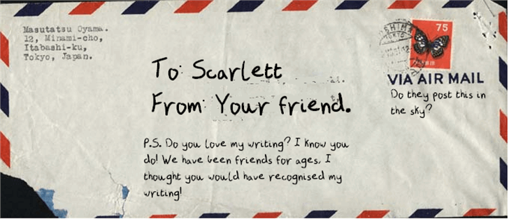 A Letter From a Friend Font handwriting text
