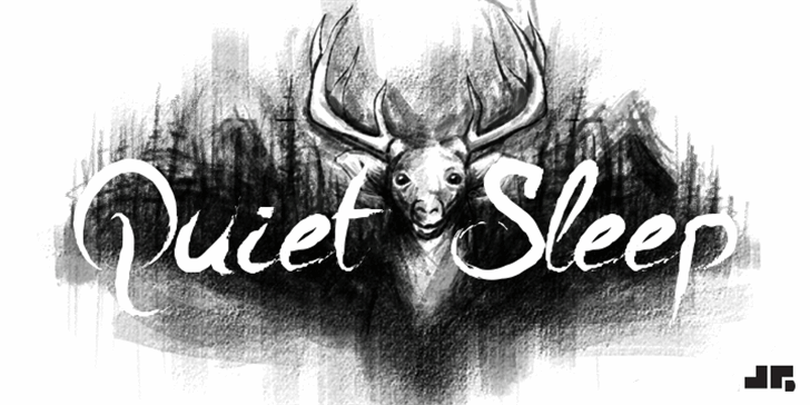A Quiet Sleep Font drawing sketch