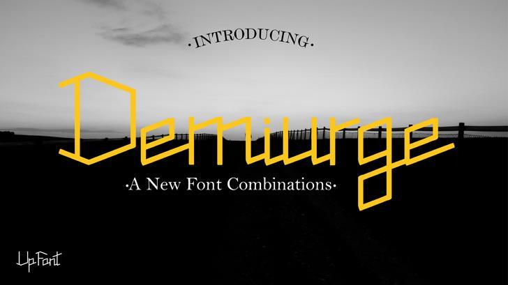 Demiurge Font poster