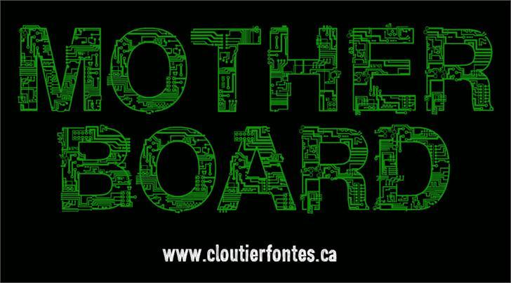 CF Motherboard DEMO Font screenshot design