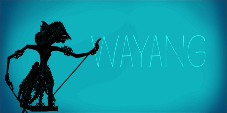 DK Wayang Font cartoon