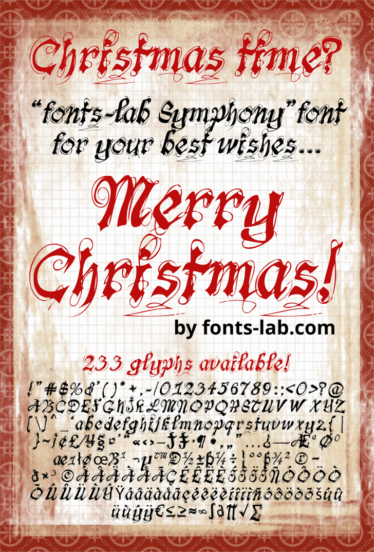 fonts-lab Symphony_demo Font text handwriting