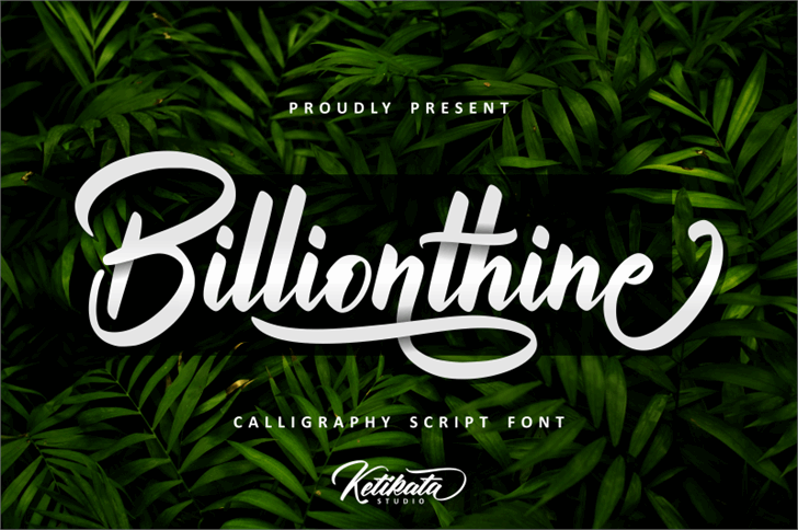 Billionthine Personal Use Only Font poster