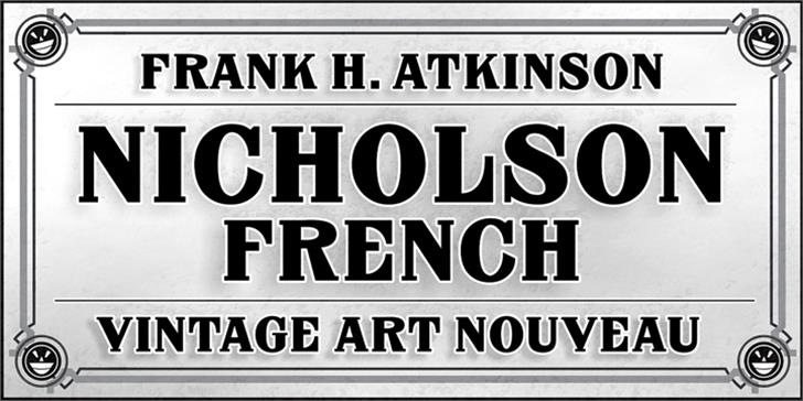 FHA Nicholson French NCV font by the Fontry