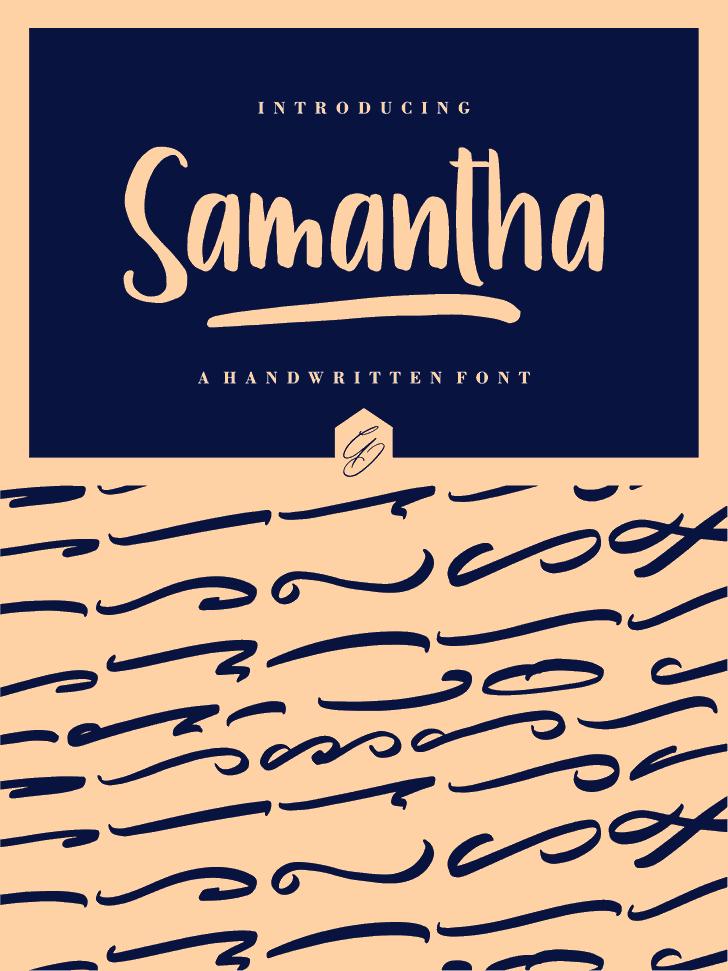 Samantha Font handwriting