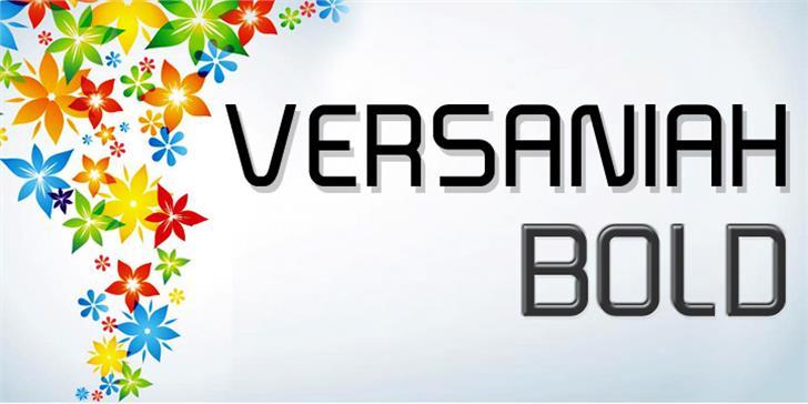 Versaniah_Bold Font screenshot logo