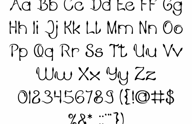 KING OF PIRATE Font Letters Charmap