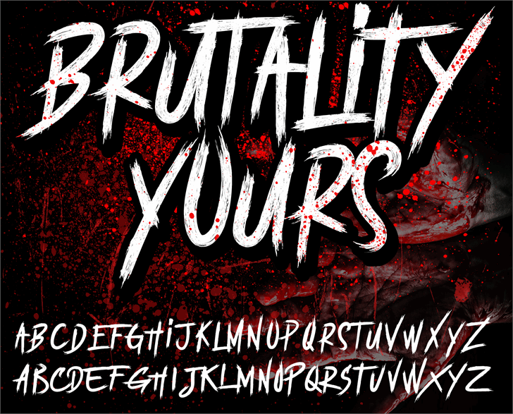 BRUTALItY YOURS  DEMO Font text poster