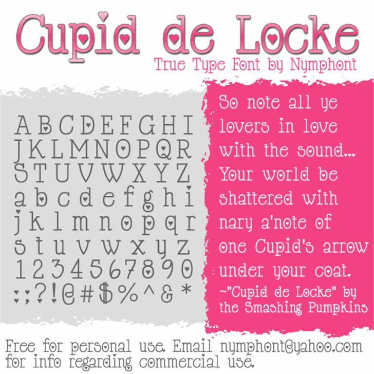 Cupid de Locke Font text screenshot