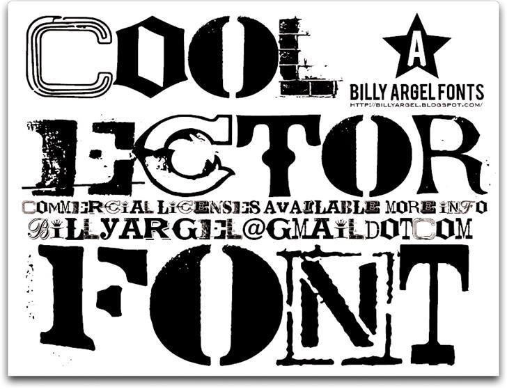 COOLECTOR Font poster design