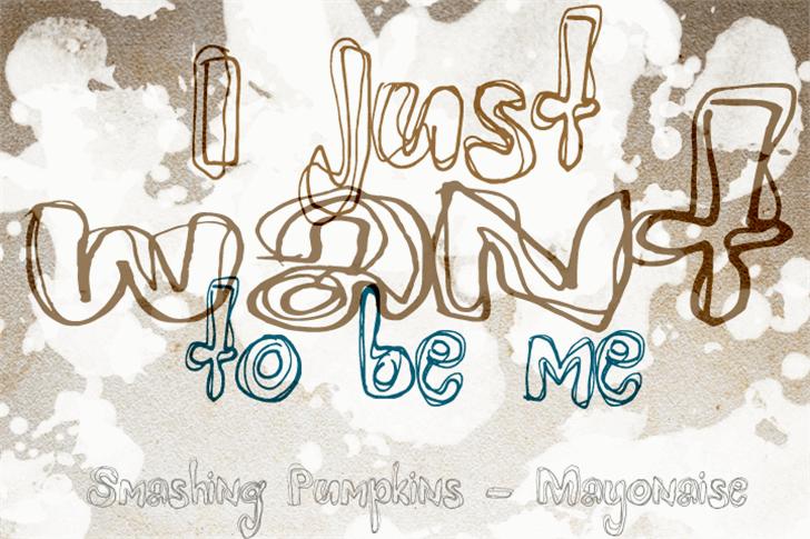 Mayonaise Font handwriting drawing