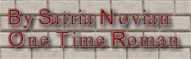 One Time Roman Font screenshot poster