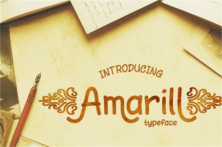 AmarillReg Font handwriting text