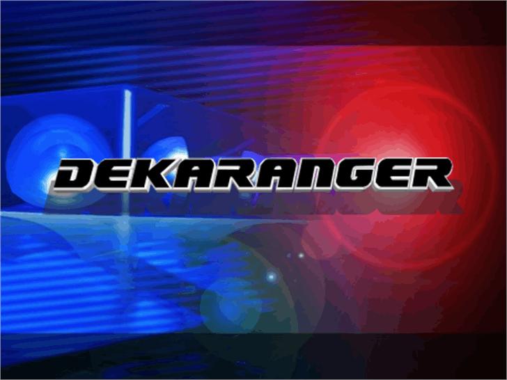 Dekaranger Font screenshot