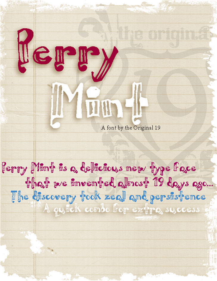 Perrymint Font text typography