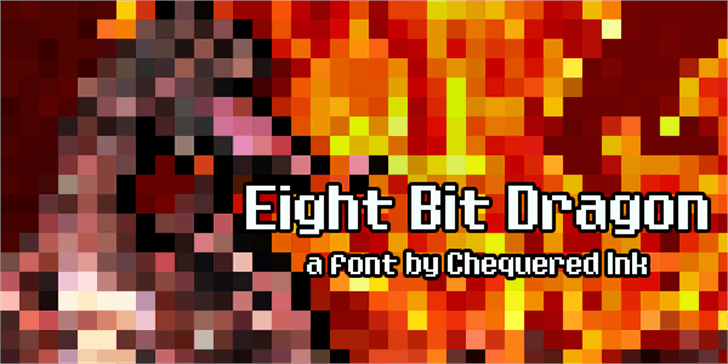 Eight Bit Dragon font by Chequered Ink