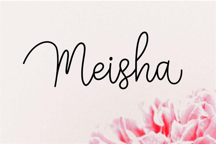 Meisha Font handwriting design