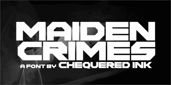 Maiden Crimes Font design screenshot