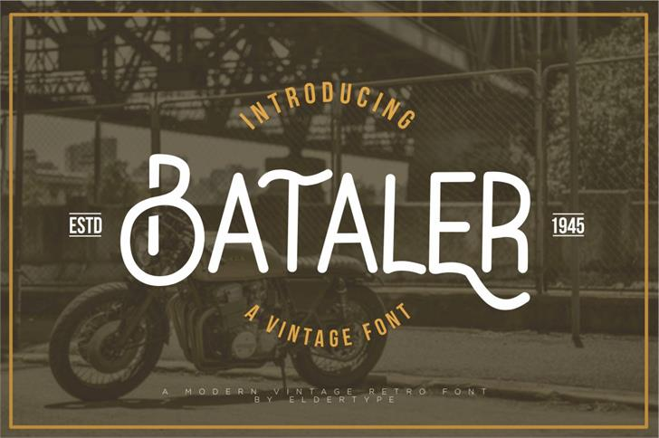Bataler Font screenshot poster