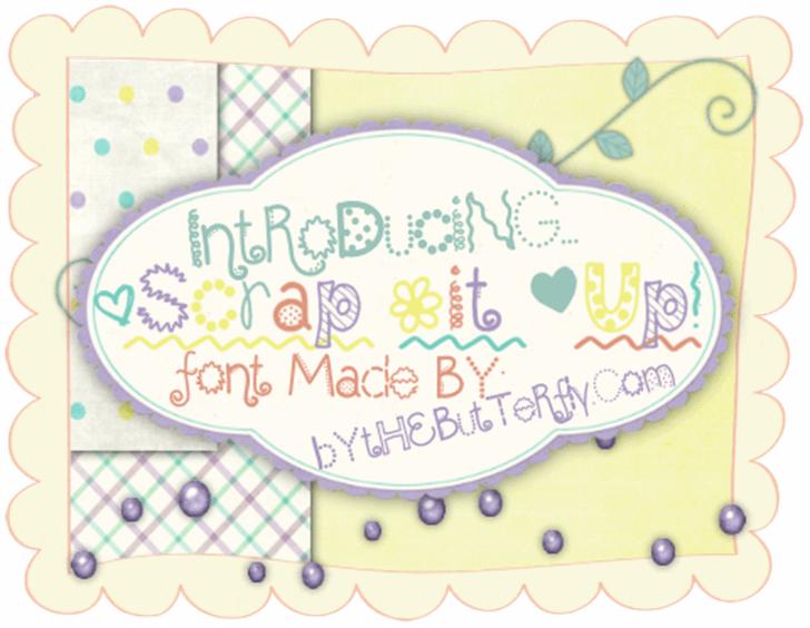 ScrapItUp font by ByTheButterfly