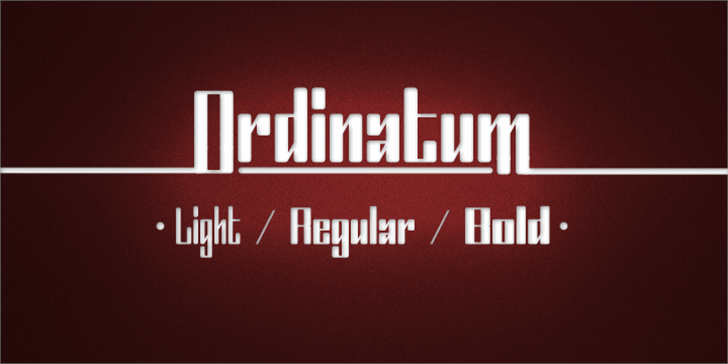 Ordinatum Font design screenshot