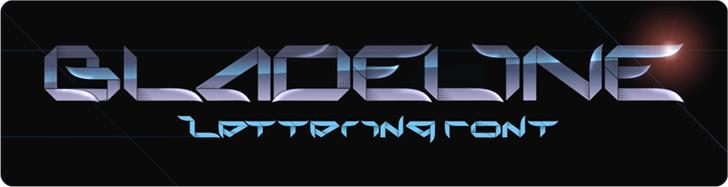 bladeline Font screenshot design