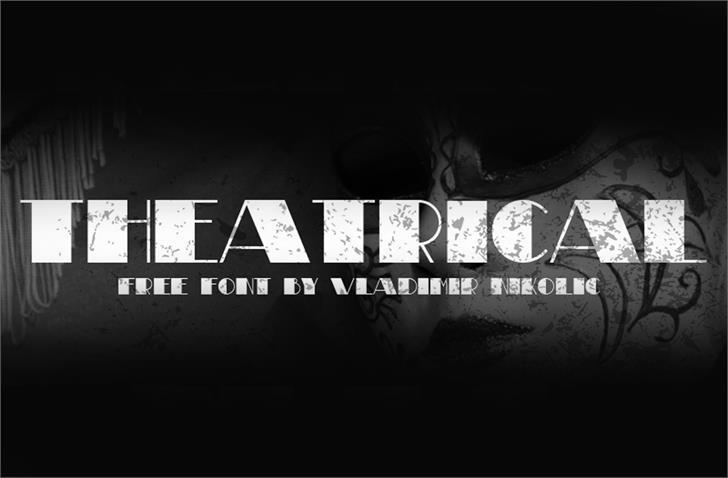 Theatrical Font screenshot poster