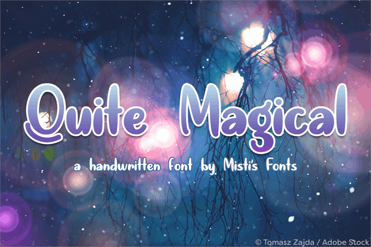 Quite Magical Font screenshot text