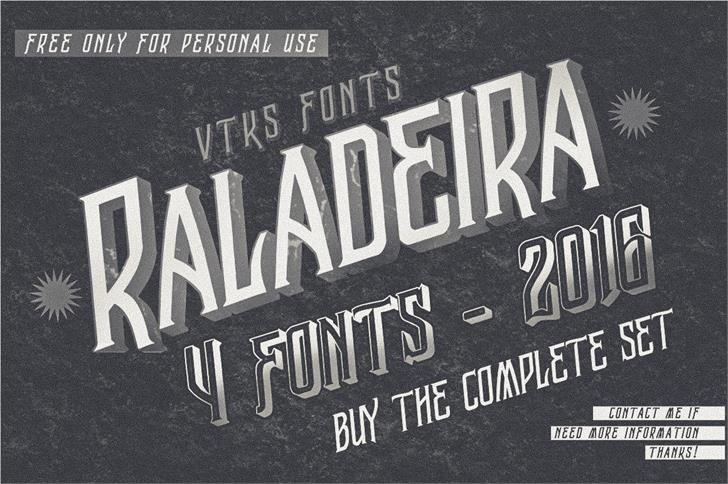 Vtks Raladeira 2 Font text poster