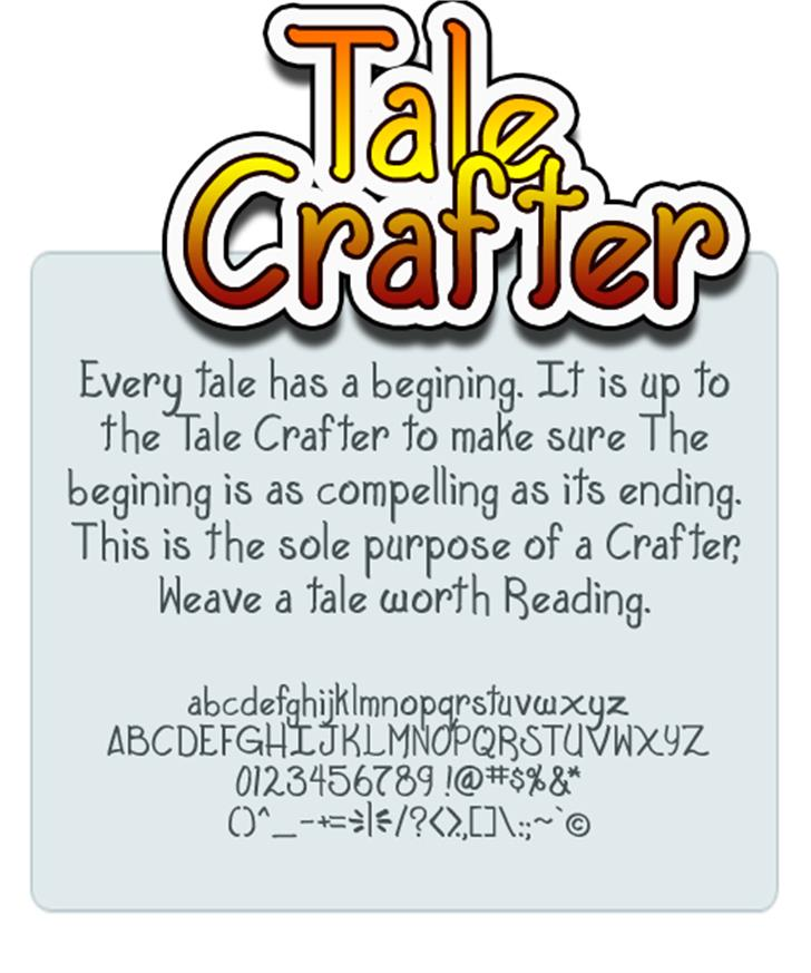 Tale Crafter font by Press Gang Studios