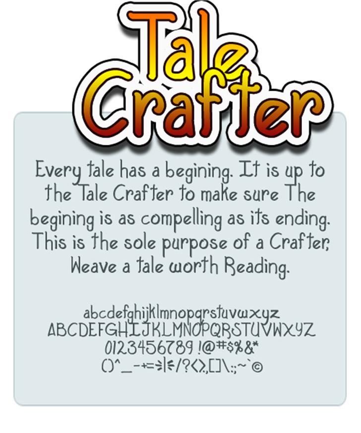 Tale Crafter Font screenshot design