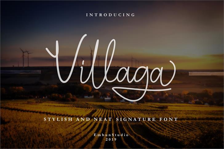 Villaga Font poster