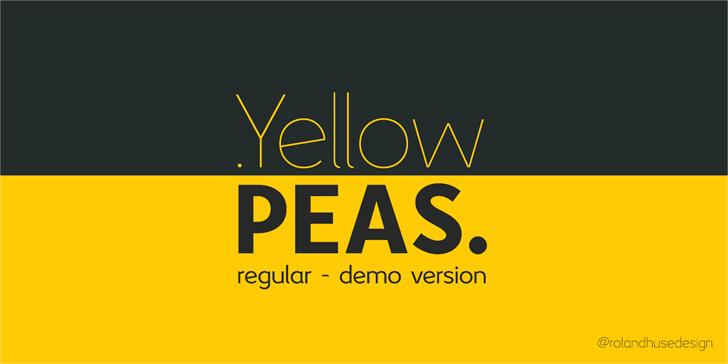 Yellow Peas Font screenshot design
