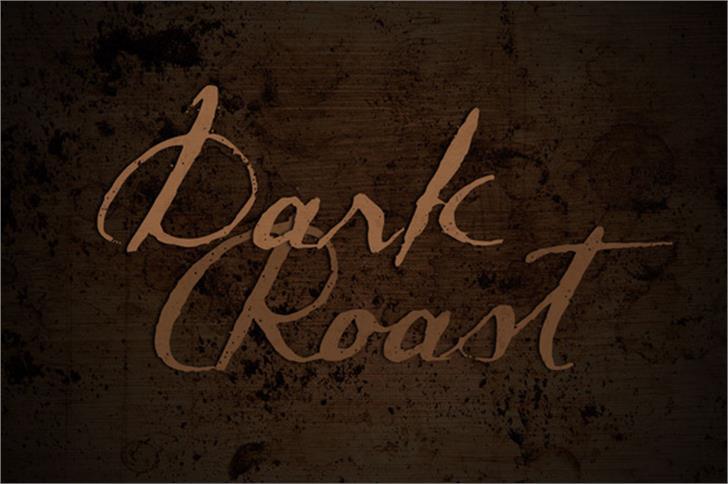 Dark Roast font by Brittney Murphy Design