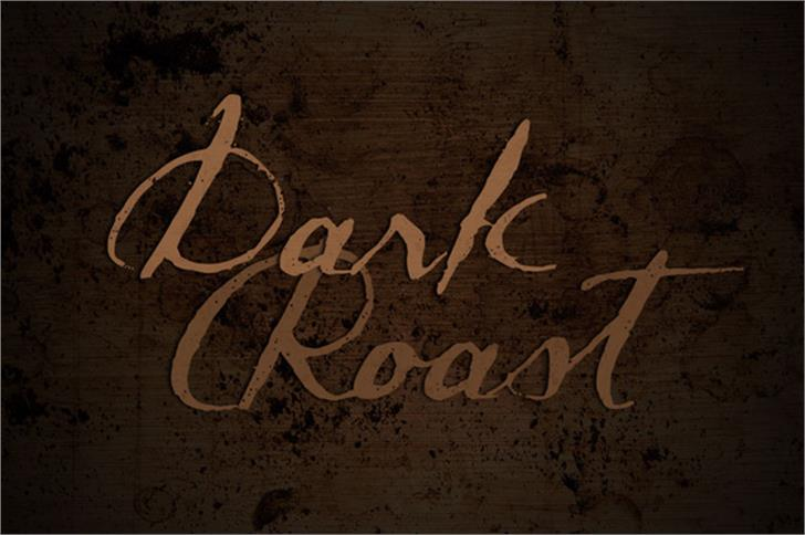 Dark Roast Font handwriting sign