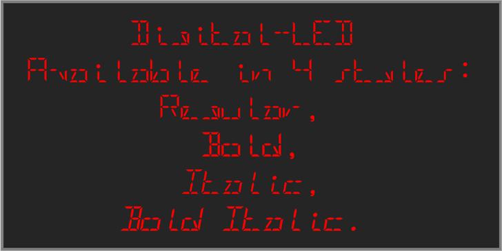 Digital-LED-Demo Font screenshot design