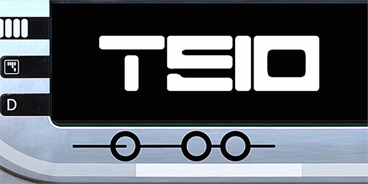 Teio Font design screenshot