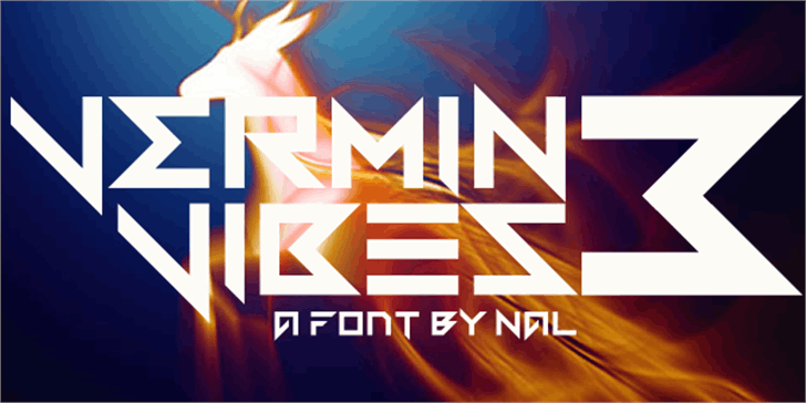 Vermin Vibes 3 Font screenshot design