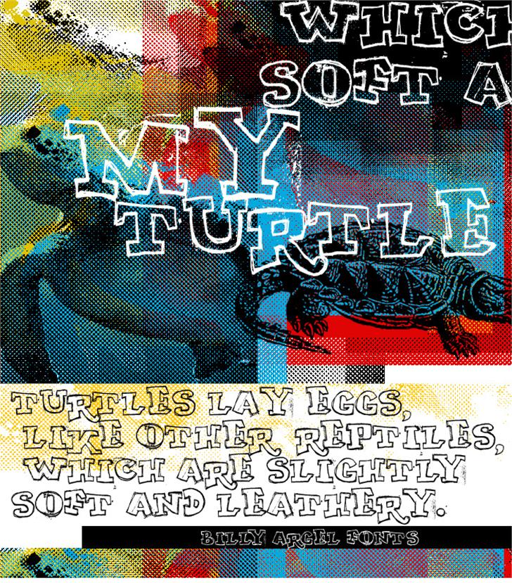 MY TURTLE font by Billy Argel