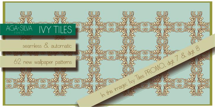 Ivy Tiles PROMO font by AgaSilva
