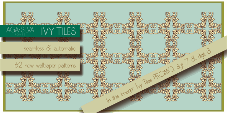 Ivy Tiles PROMO Font design screenshot