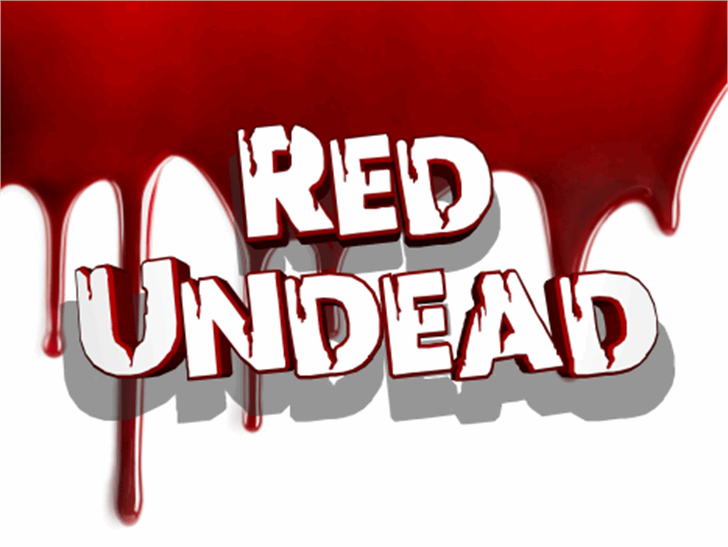 Red Undead Font design poster