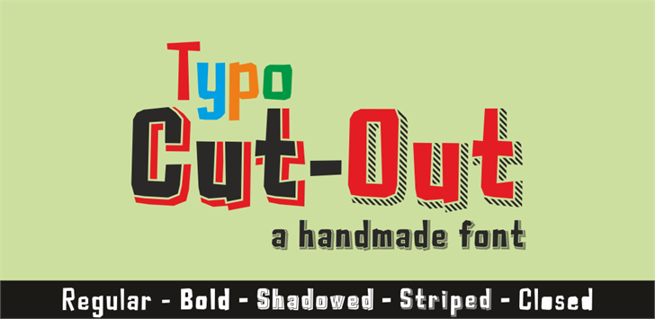 Typo Cut-Out Demo Font text