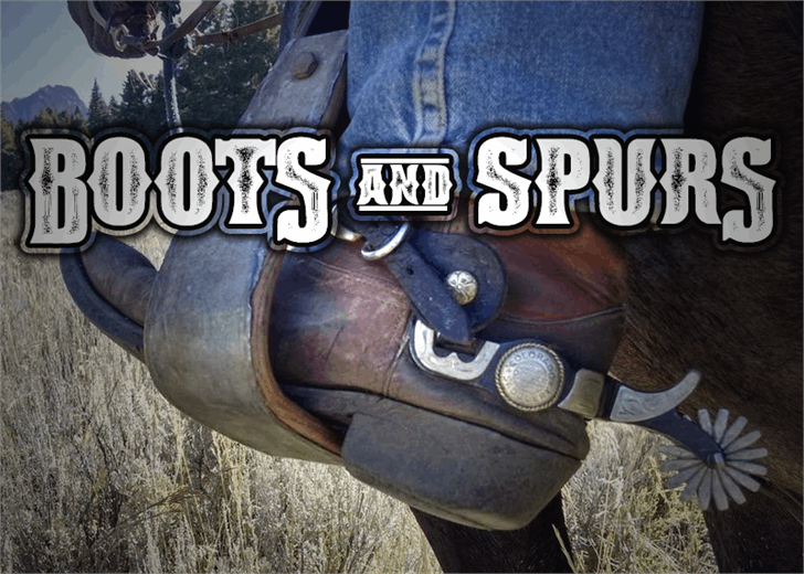 Boots & Spurs Font outdoor jeans