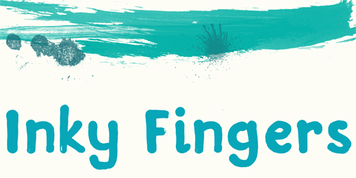 DK Inky Fingers Font design graphic